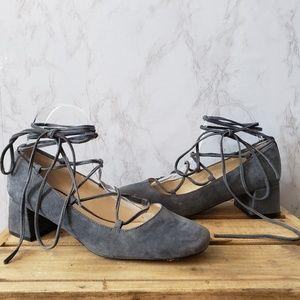 Karl Lagerfeld Shoes - Karl Lagerfeld Paris Charlie Gray Block Heel